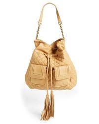 Big Buddha - Quilted Drawstring Shoulder Bag - Lyst