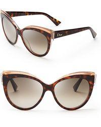 Dior Glisten Cat Eye Sunglasses - Lyst