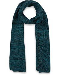 Jonathan Saunders Green Herringbone Merino Wool Scarf - Lyst