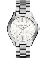 Michael Kors Women'S Slim Runway Stainless Steel Bracelet Watch 42Mm Mk3371 - A Macy'S Exclusive - Lyst