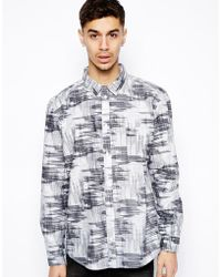 Cheap Monday Shirt in Smudge Check Print - Lyst