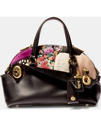 COACH | Outlaw Satchel 36 In Embellished Patchwork Leather | Lyst