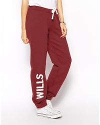Jack Wills Classic Sweat Pants - Purple