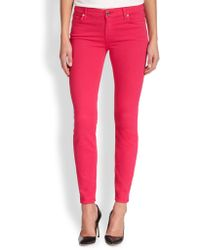 7 For All Mankind The Slim Illusion Ankle Skinny Jeans - Lyst