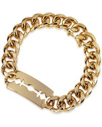 McQ - Chunk Chain Large Razor-Blade Id Bracelet - Lyst