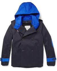 Band Of Outsiders Mackintosh Bonded-cotton Peacoat - Lyst