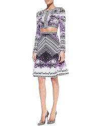 Hervé Léger Veda Photographic High-waisted Skirt - Lyst