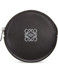 Loewe Round Leather Coin Purse - Lyst