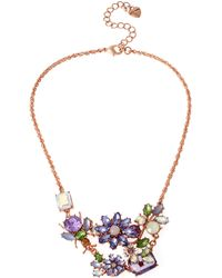 Betsey Johnson Spring Fling Statement Necklace purple - Lyst