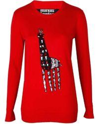 Markus Lupfer Tribal Giraffe Embellished Natalie Jumper - Lyst