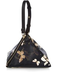 Givenchy Pyramid Butterfly-Print Leather Clutch - Lyst