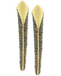 Vince Camuto - Goldtone Black Pave Crystal Horn Drop Earrings - Lyst