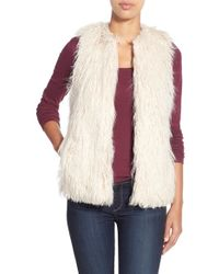Dex - Shaggy Faux Fur Vest - Lyst