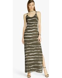 Halston Tie-Dye Printed Maxi Dress green - Lyst