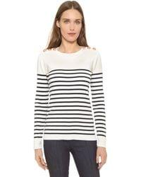 Petit Bateau Knit Striped Sweater - White