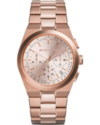 Michael Kors Channing Rose Goldtoned Stainless Steel Chronograph Watch Rose Gold - Lyst