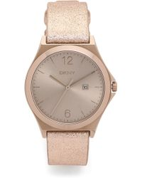DKNY - Parsons Watch - Beige/gold - Lyst