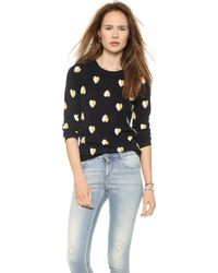 Chinti And Parker Queen Of Hearts Cashmere Sweater Navy and Creamegg Yolk - Lyst
