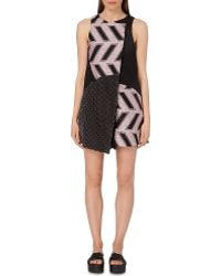 Opening Ceremony Mallory Contrast-Panel Playsuit - Lyst