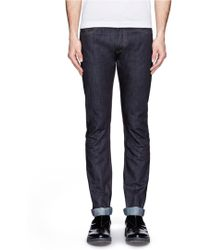 Valentino Unwashed Slim-Fit Jeans - Lyst