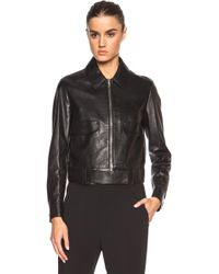 3.1 Phillip Lim Boxy Leather Jacket With Topstitched Details And Self Belt - Lyst
