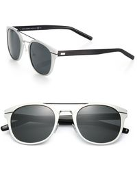 Dior Homme Metal Round Sunglasses silver - Lyst