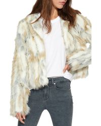 n:PHILANTHROPY - White Heather Faux-Fur Jacket - Lyst