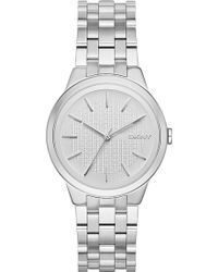 DKNY Ny2381 Park Slope Stainless Steel Watch - Metallic
