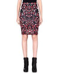 McQ by Alexander McQueen Abstract Print Jersey Skirt - Lyst