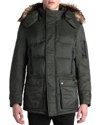 Rainforest - Faux Fur-trimmed Puffer Coat - Lyst