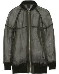 Vera Wang Silkgauze Jacket - Lyst