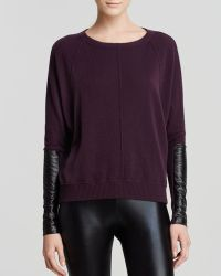 Autumn Cashmere Sweater - Dolman Leather Sleeve Cashmere - Lyst