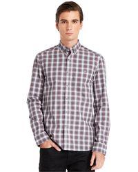 Kenneth Cole New York Button-down Collar Plaid Shirt - Lyst