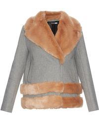 Sportmax Code - Brava Faux Fur-Trimmed Jacket - Lyst