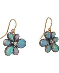 Judy Geib Opal  Diamond Wildflower Drop Earrings - Lyst