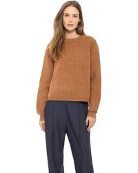 Acne Studios Misty Boiled Wool Zip Sweater - Lyst