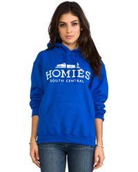 Brian Lichtenberg Homiã©S Cotton-Blend Jersey Hooded Top - Blue