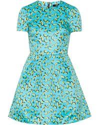 Markus Lupfer Bananas Frankie Printed Satin Mini Dress - Lyst