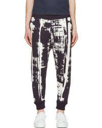 Robert Geller Navy Knit Abstract Lounge Pants - Lyst