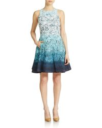 Maggy London Ombre Fit And Flare Dress - Lyst