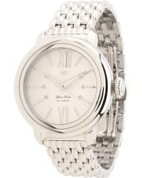 Glam Rock 40mm Stainless Steel Watch with Diamond Indexes and 7link Bracelet - Metallic