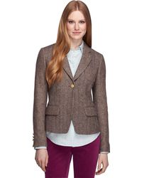 Brooks Brothers Wool Herringbone Fun Jacket - Lyst
