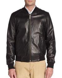 Alexander McQueen Skull Leather Bomber Jacket - Lyst