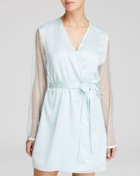 Flora Nikrooz Showstopper Charmeuse Coverup - Blue