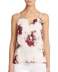Haute Hippie Front-Keyhole Silk Camisole multicolor - Lyst