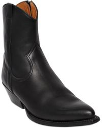 Saint Laurent - 40Mm Santiag Leather Cowboy Boots - Lyst