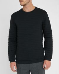 Calvin Klein   Black Parallelogram Quilted Sweatshirt   Lyst