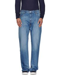 Love Moschino | blue Denim Trousers | Lyst