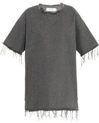 Marques'Almeida Frayed-edge Denim Shift Dress - Lyst