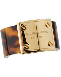 Michael Kors Mk Logo Plaque Ring - Lyst